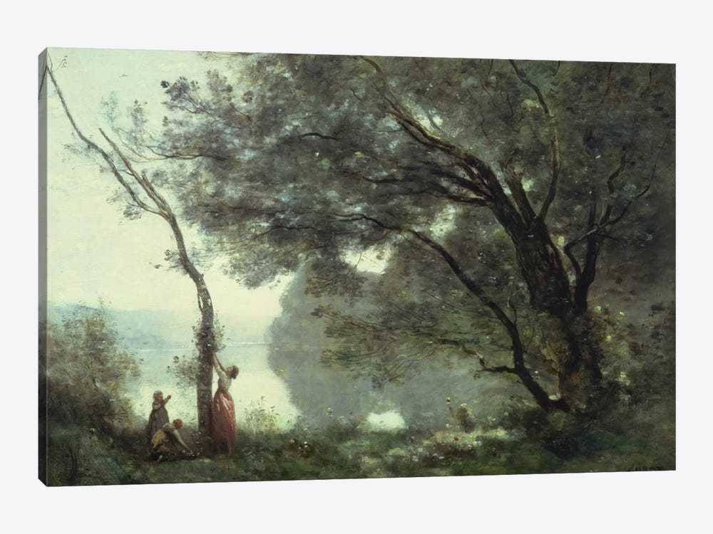 Recollections of Mortefontaine, 1864  by Jean-Baptiste-Camille Corot 1-piece Canvas Art Print