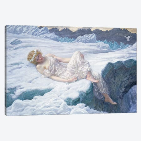 Heart of Snow, 1907  Canvas Print #BMN9610} by Edward Robert Hughes Canvas Wall Art