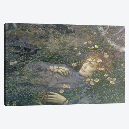 Oh What's That in the Hollow?'  Canvas Print #BMN9612} by Edward Robert Hughes Canvas Art