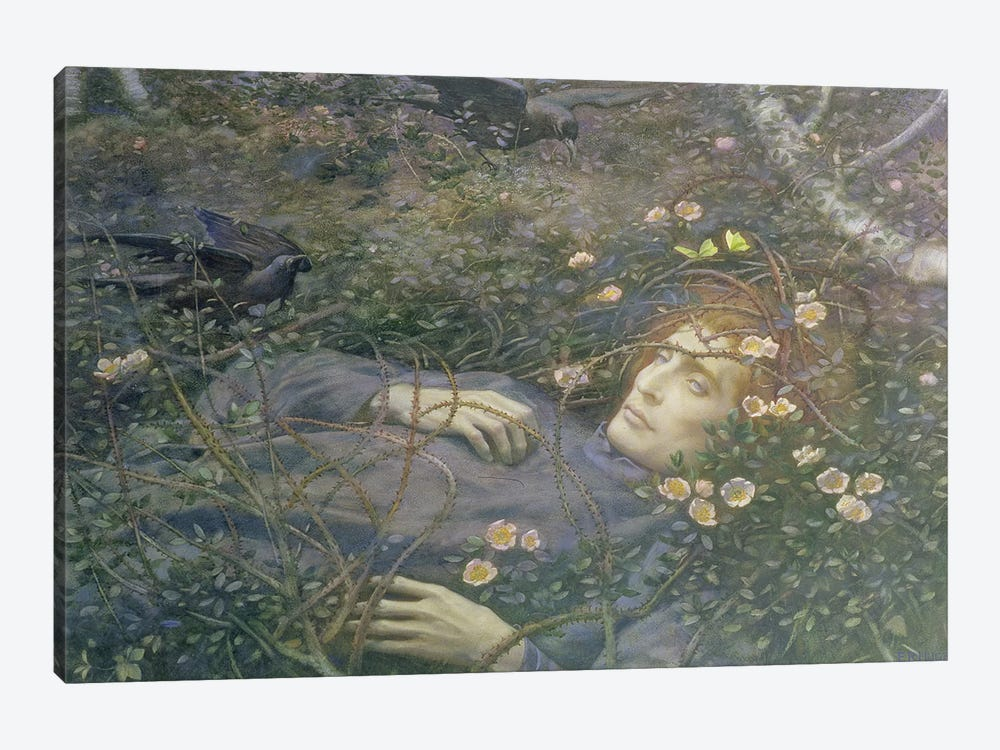 Oh What's That in the Hollow?'  by Edward Robert Hughes 1-piece Canvas Art Print