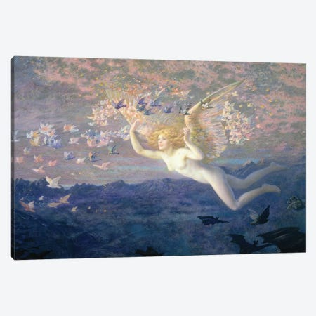 On the Wings of the Morning, 1905  Canvas Print #BMN9613} by Edward Robert Hughes Canvas Artwork