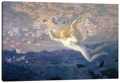 On the Wings of the Morning, 1905  Canvas Art Print