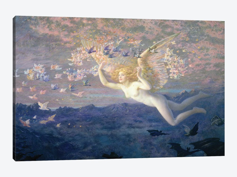 On the Wings of the Morning, 1905  by Edward Robert Hughes 1-piece Canvas Wall Art
