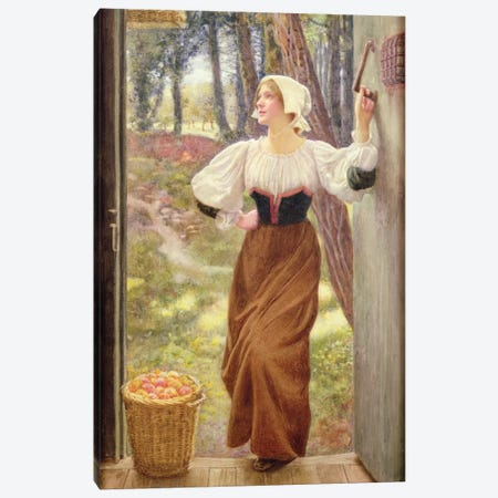 Tithe in Kind  Canvas Print #BMN9614} by Edward Robert Hughes Art Print