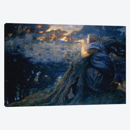 Twilight Fantasies, 1911  Canvas Print #BMN9615} by Edward Robert Hughes Art Print