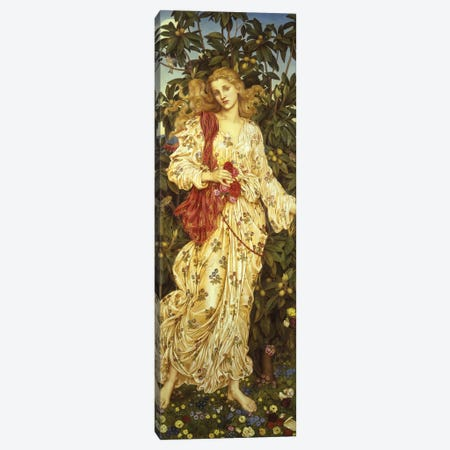 Flora, 1894  Canvas Print #BMN9616} by Evelyn De Morgan Art Print