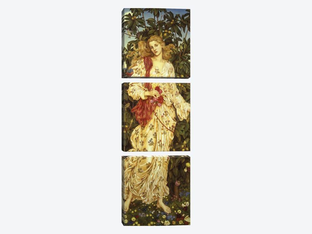 Flora, 1894  by Evelyn De Morgan 3-piece Canvas Print