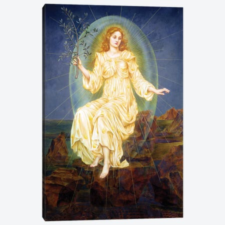 Lux in Tenebris, 1895  Canvas Print #BMN9617} by Evelyn De Morgan Canvas Art Print