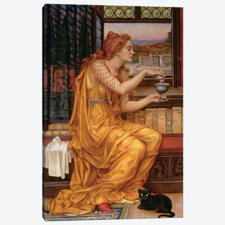 The Love Potion, 1903  Canvas Print #BMN9618} by Evelyn De Morgan Canvas Artwork