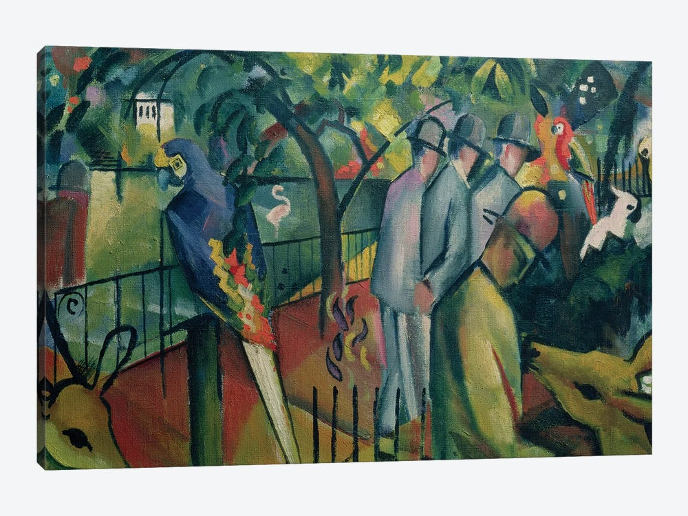 Zoological Garden I, 1912  by August Macke 1-piece Canvas Wall Art