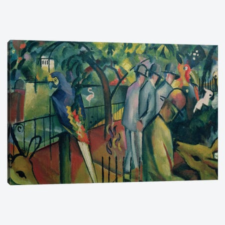 Zoological Garden I, 1912  Canvas Print #BMN961} by August Macke Canvas Print