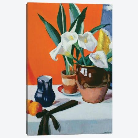 Arum Lilies  Canvas Print #BMN9621} by Francis Campbell Boileau Cadell Art Print