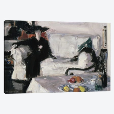Interior with figure, 1914-15  Canvas Print #BMN9622} by Francis Campbell Boileau Cadell Canvas Print