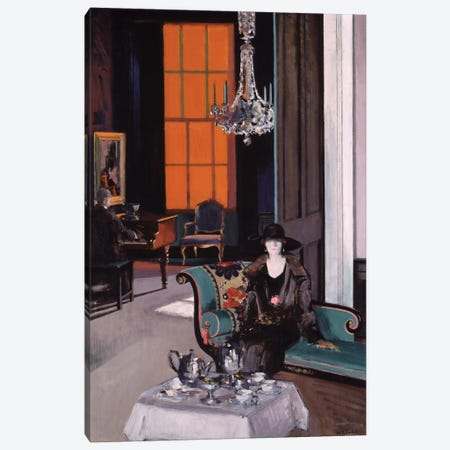Interior: The Orange Blind, c.1928  Canvas Print #BMN9623} by Francis Campbell Boileau Cadell Art Print