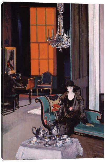 Interior: The Orange Blind, c.1928  Canvas Art Print