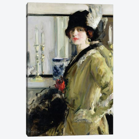 The Black Hat Canvas Print #BMN9626} by Francis Campbell Boileau Cadell Canvas Art