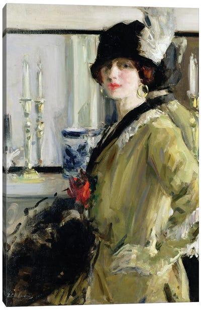 The Black Hat Canvas Art Print