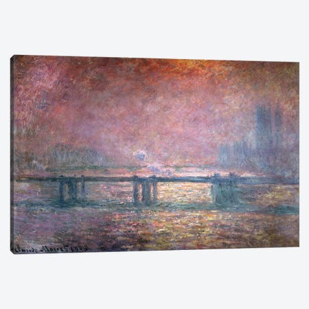 The Thames at Charing Cross, 1903  Canvas Print #BMN962} by Claude Monet Canvas Print