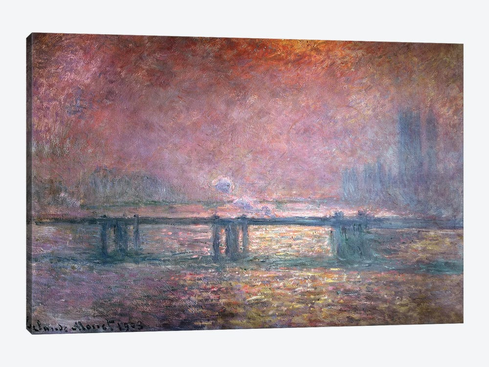 The Thames at Charing Cross, 1903  by Claude Monet 1-piece Art Print