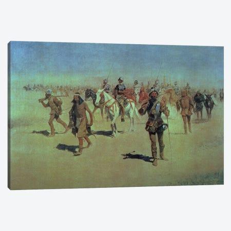 Francisco Vasquez de Coronado  Making his Way Across New Mexico, 1905  Canvas Print #BMN9633} by Frederic Remington Canvas Wall Art