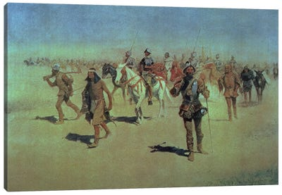 Francisco Vasquez de Coronado  Making his Way Across New Mexico, 1905  Canvas Art Print