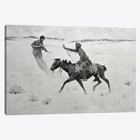 How Order No. 6 went through, or The Vision  Canvas Print #BMN9634} by Frederic Remington Canvas Print