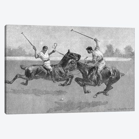 Polo Players, 1890  Canvas Print #BMN9637} by Frederic Remington Canvas Print