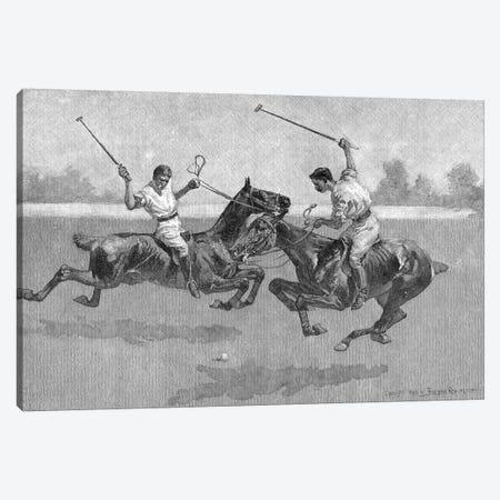 Polo Players, 1890  Canvas Print #BMN9637} by Frederic Remington Canvas Print