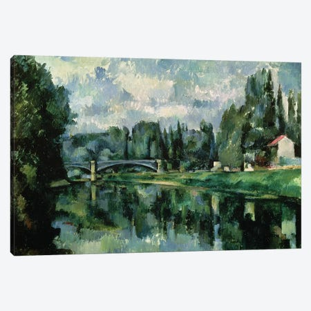 The Banks of the Marne at Creteil, c.1888  Canvas Print #BMN963} by Paul Cezanne Canvas Art Print