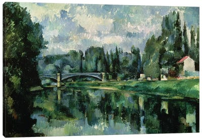 The Banks of the Marne at Creteil, c.1888  Canvas Art Print