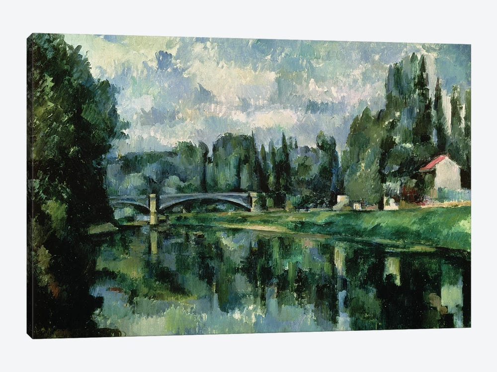 The Banks of the Marne at Creteil, c.1888  by Paul Cezanne 1-piece Canvas Wall Art