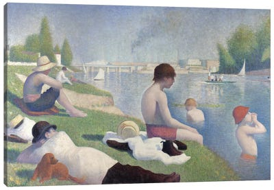 Bathers at Asnières, 1884  Canvas Art Print