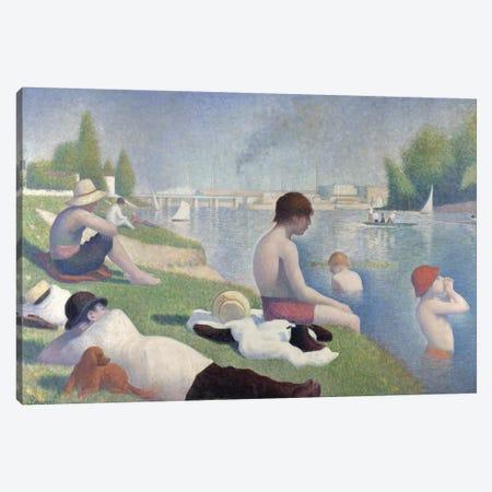 Bathers at Asnières, 1884  Canvas Print #BMN9641} by Georges Seurat Art Print