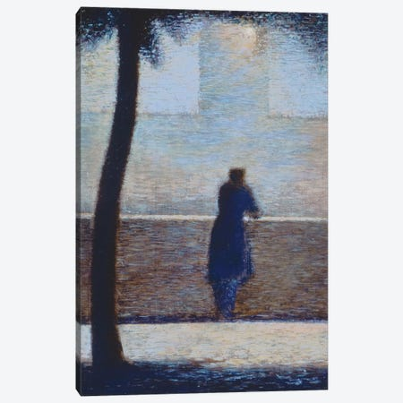 Man leaning on a parapet  Canvas Print #BMN9645} by Georges Seurat Canvas Art