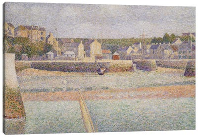 Port-en-Bessin: The Outer Harbor , 1888  Canvas Art Print