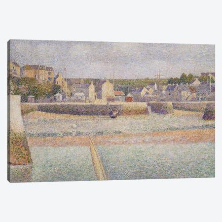 Port-en-Bessin: The Outer Harbor , 1888  Canvas Print #BMN9646} by Georges Seurat Canvas Artwork
