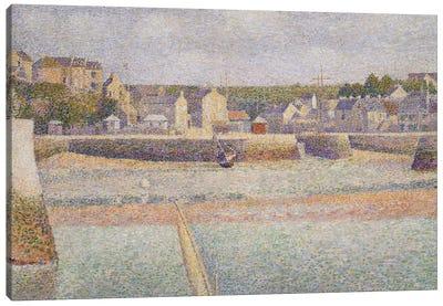 Port-en-Bessin: The Outer Harbor , 1888  Canvas Art Print
