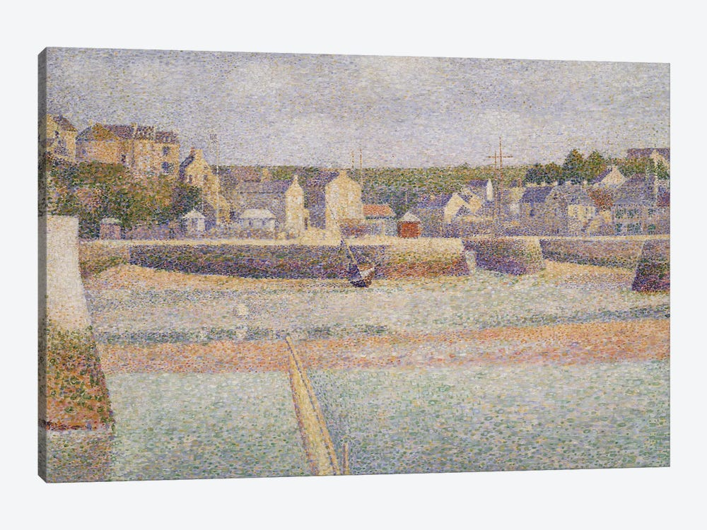Port-en-Bessin: The Outer Harbor , 1888  by Georges Seurat 1-piece Canvas Wall Art