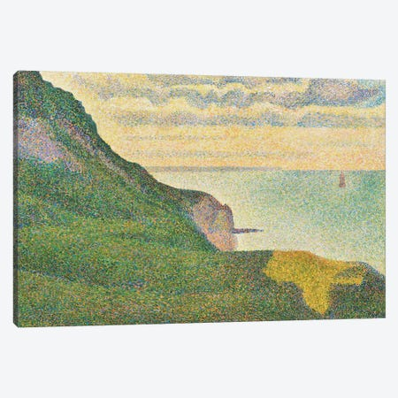 Seascape at Port-en-Bessin, Normandy, 1888  Canvas Print #BMN9648} by Georges Seurat Canvas Print