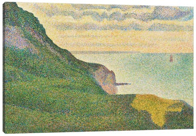 Seascape at Port-en-Bessin, Normandy, 1888  Canvas Art Print