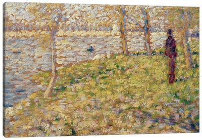 Study for 'Sunday Afternoon on the Island of La Grand Jatte', 1884-85  Canvas Art Print