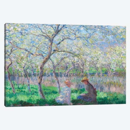 Springtime, 1886  Canvas Print #BMN964} by Claude Monet Canvas Wall Art
