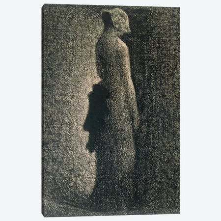 The Black Bow, 1882-3  Canvas Print #BMN9650} by Georges Seurat Canvas Art