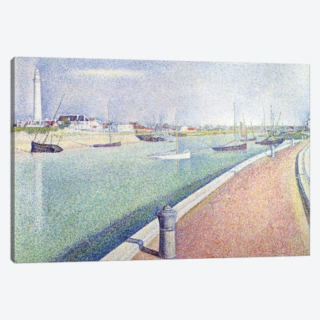 The Channel of Gravelines, Petit Fort Philippe, 1890  Canvas Print #BMN9651} by Georges Seurat Canvas Art