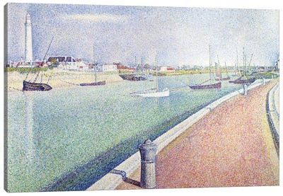 The Channel of Gravelines, Petit Fort Philippe, 1890  Canvas Art Print