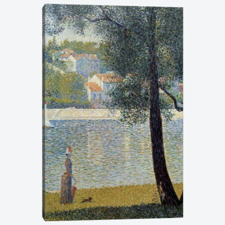 The Seine at Courbevoie, 1885 Canvas Print #BMN9653} by Georges Seurat Canvas Art