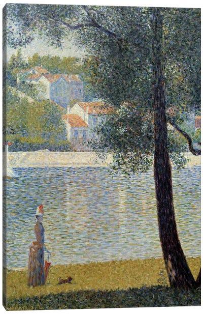 The Seine at Courbevoie, 1885 Canvas Art Print
