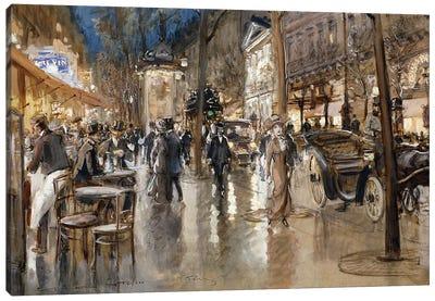 Evening on a Parisian Boulevard,  Canvas Art Print