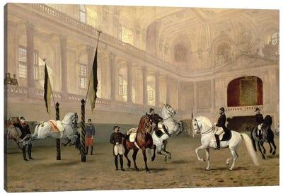 Morning Exercise in the Hofreitschule, Josephsplatz, 1890 Canvas Art Print