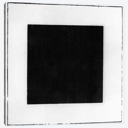 Black Square  Canvas Print #BMN9671} by Kazimir Severinovich Malevich Canvas Artwork